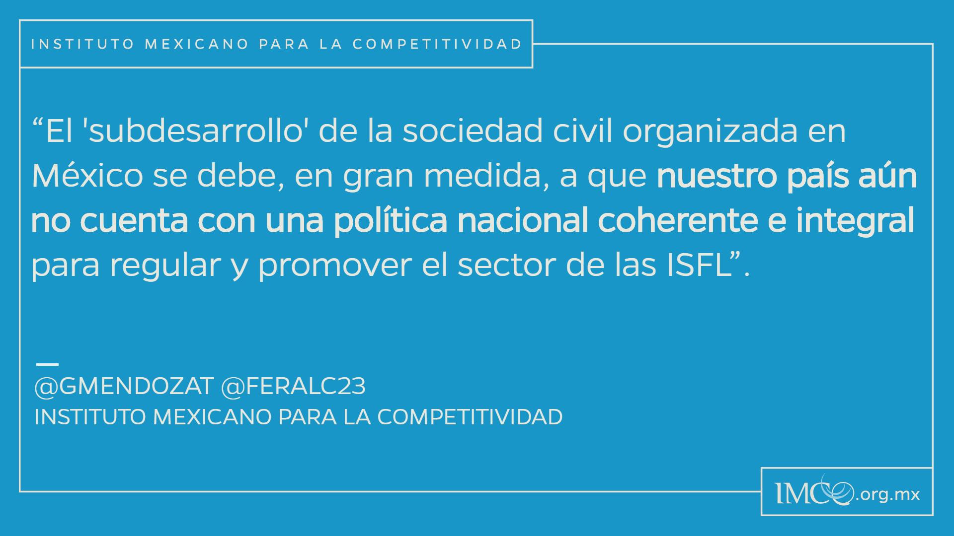 La sociedad civil organizada en México: hacia un nuevo
