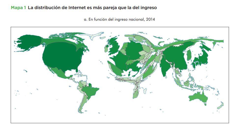 Distribución internet función ingreso