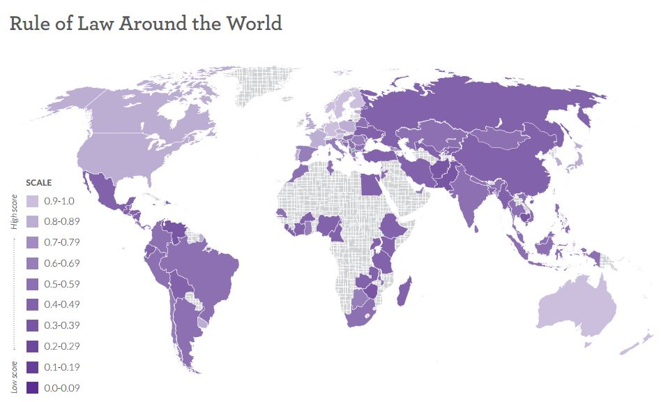 Rule of law around the world