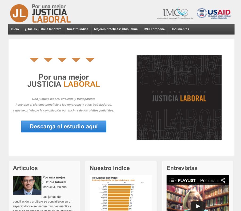 Micrositio: Por una mejor JUSTICIA LABORAL