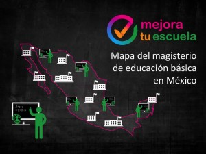 Mapa del magisterio de educación básica en México