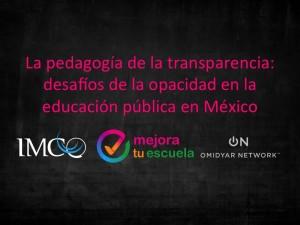 La pedagogía de la transparencia: desafíos de la opacidad en la educación pública en México